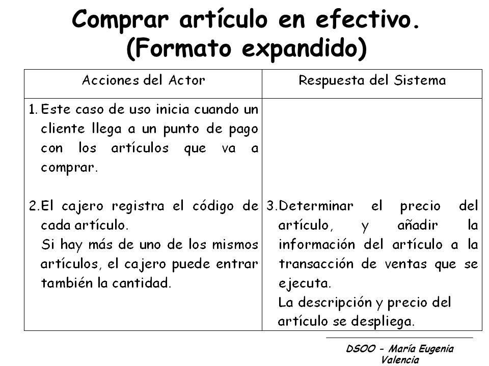 DSOO - María Eugenia Valencia Guías para el Modelo Conceptual 1.Listar los conceptos candidatos usando la lista de categorías de conceptos y la identificación de sustantivos relacionados con los requerimientos en consideración.