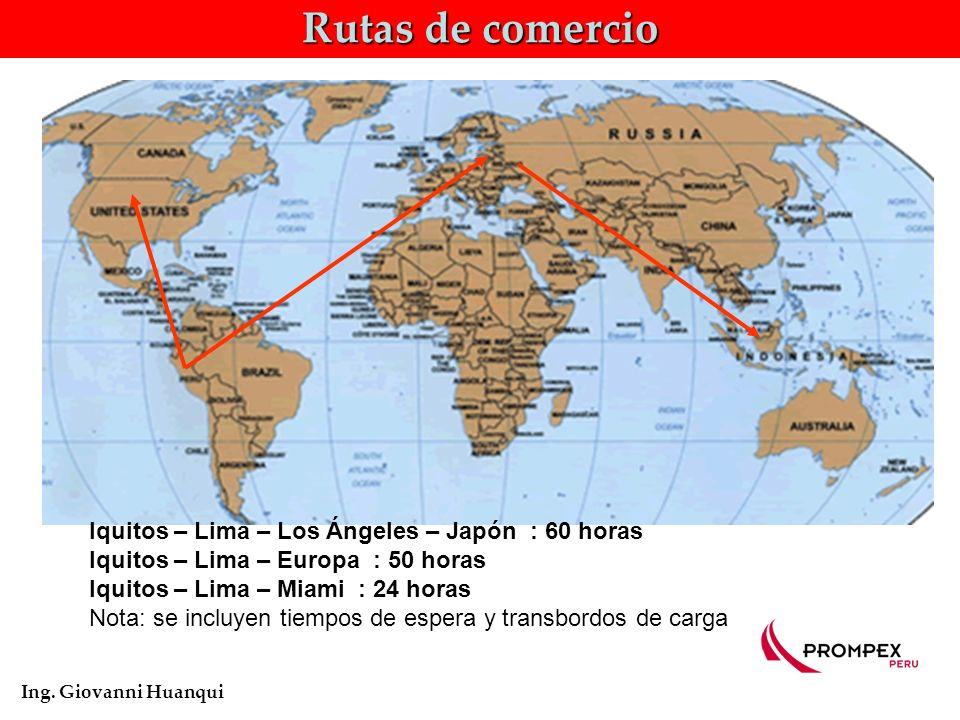 Rutas de comercio Ing.