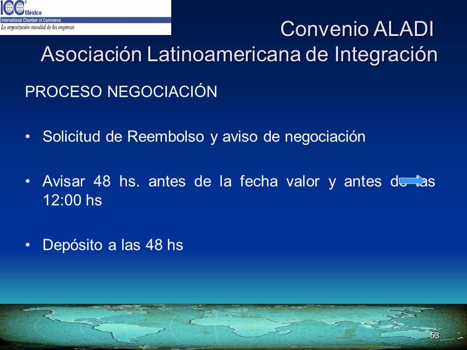 53 Convenio ALADI Asociación Latinoamericana de Integración Convenio ALADI Asociación Latinoamericana de Integración PROCESO NEGOCIACIÓN Solicitud de