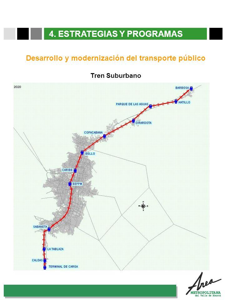 31 Octubre 2007 4. ESTRATEGIAS Y PROGRAMAS Desarrollo y modernización del transporte público Tren Suburbano