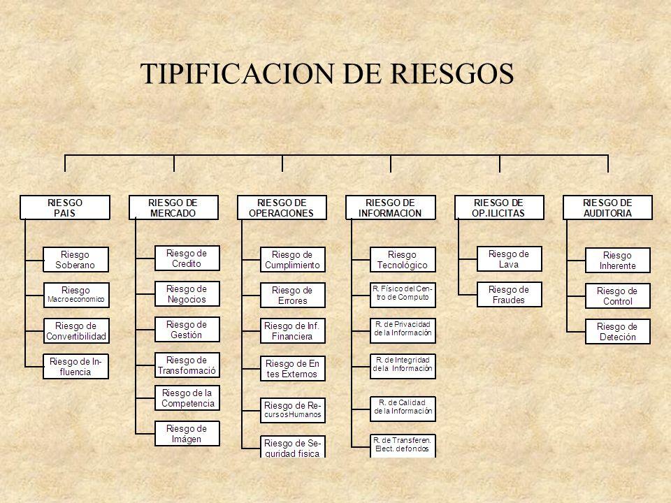 TIPIFICACION DE RIESGOS