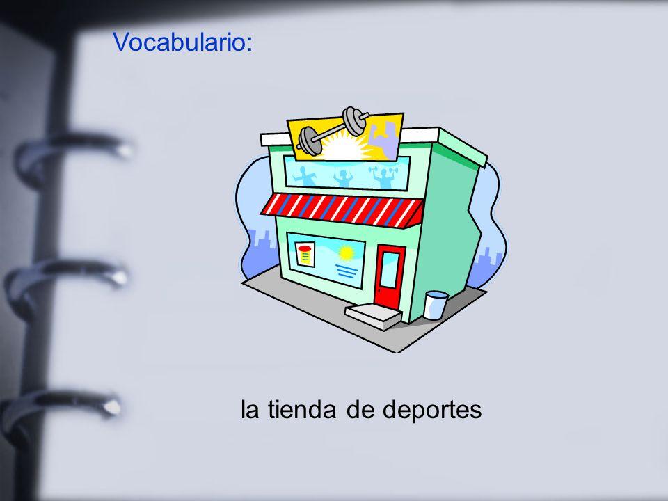 Vocabulario: la tienda de deportes