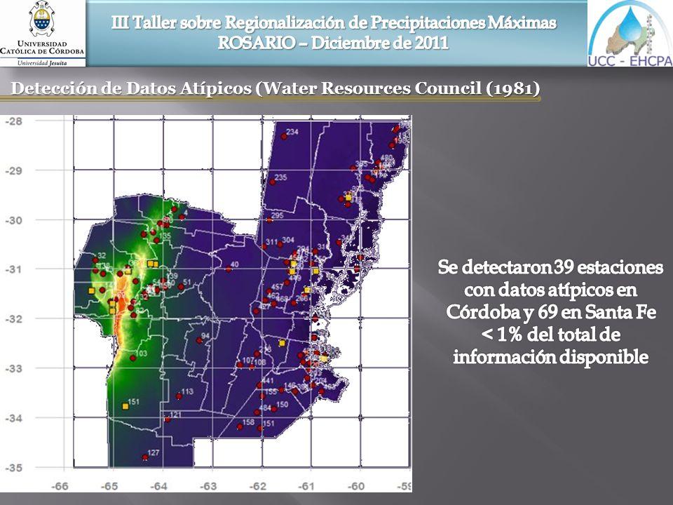Detección de Datos Atípicos (Water Resources Council (1981)