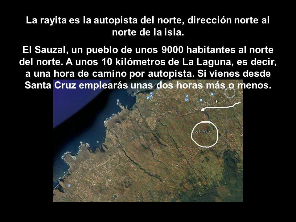 La rayita es la autopista del norte, dirección norte al norte de la isla.