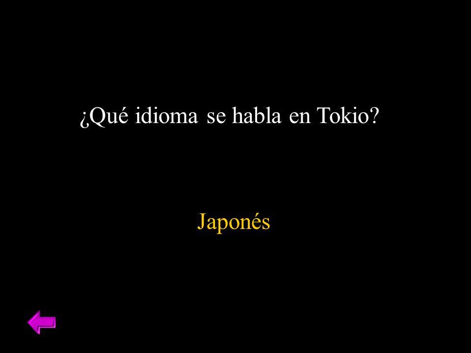 ¿Qué idioma se habla en Tokio? Japonés