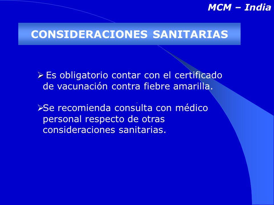 Es obligatorio contar con el certificado de vacunación contra fiebre amarilla.