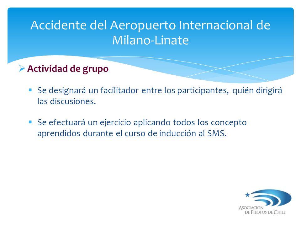 Actividad de grupo Se designará un facilitador entre los participantes, quién dirigirá las discusiones. Se efectuará un ejercicio aplicando todos los