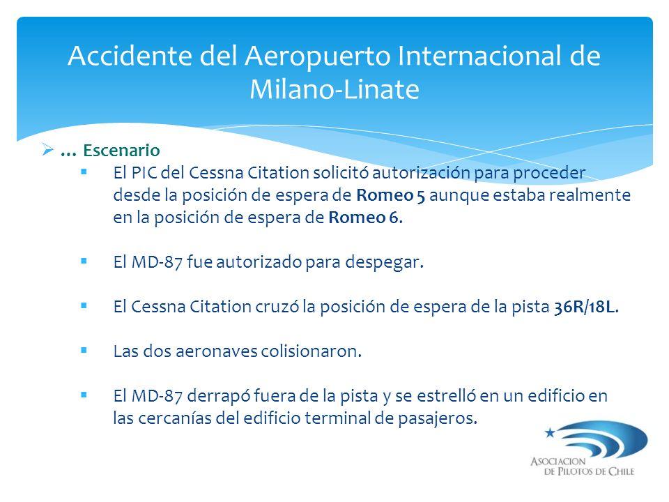 … Escenario El PIC del Cessna Citation solicitó autorización para proceder desde la posición de espera de Romeo 5 aunque estaba realmente en la posici