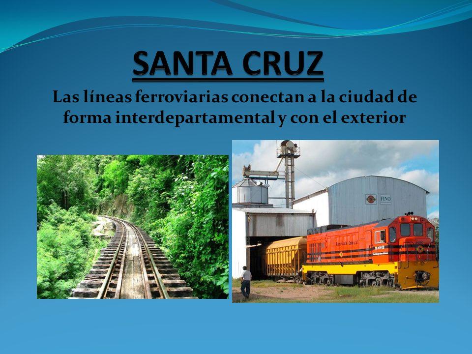 Las líneas ferroviarias conectan a la ciudad de forma interdepartamental y con el exterior