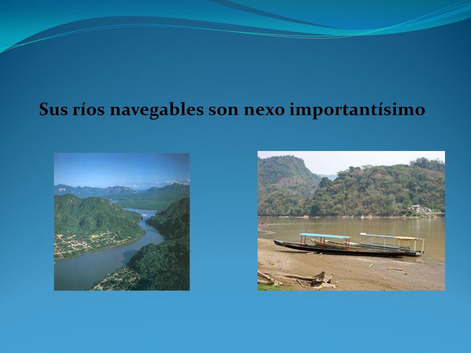 Sus ríos navegables son nexo importantísimo
