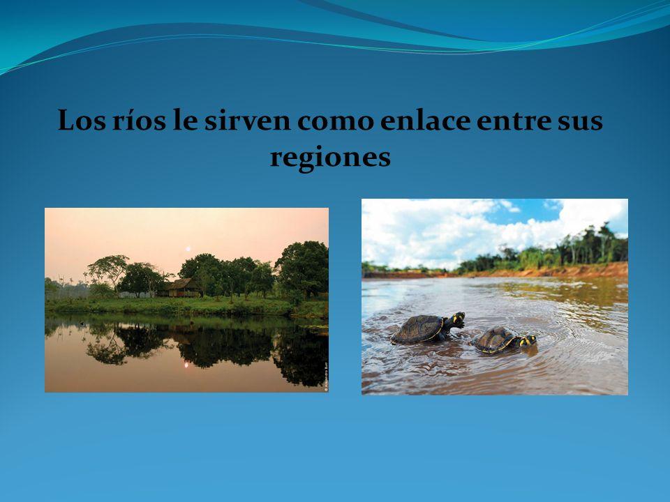 Los ríos le sirven como enlace entre sus regiones