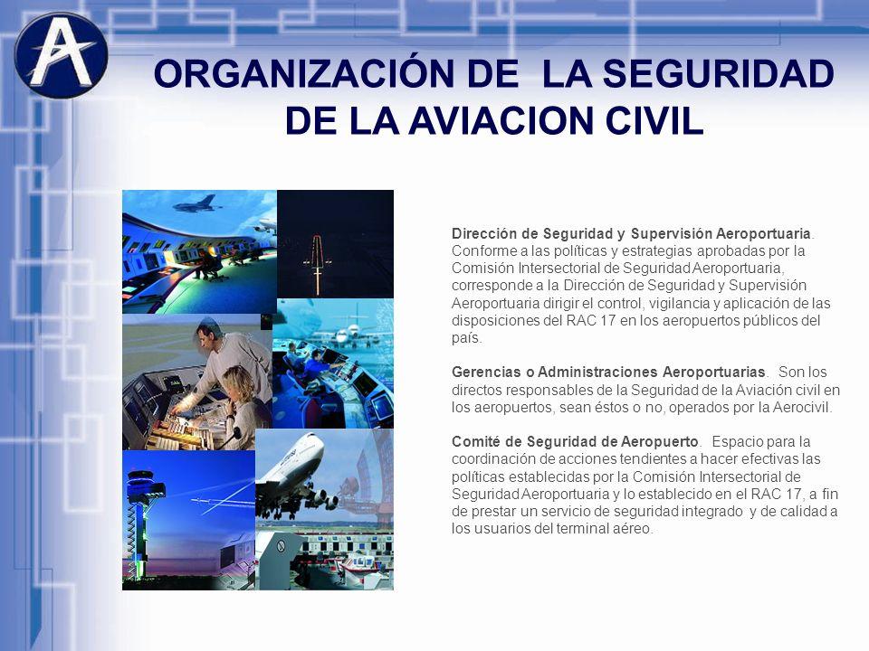 Dirección de Seguridad y Supervisión Aeroportuaria. Conforme a las políticas y estrategias aprobadas por la Comisión Intersectorial de Seguridad Aerop