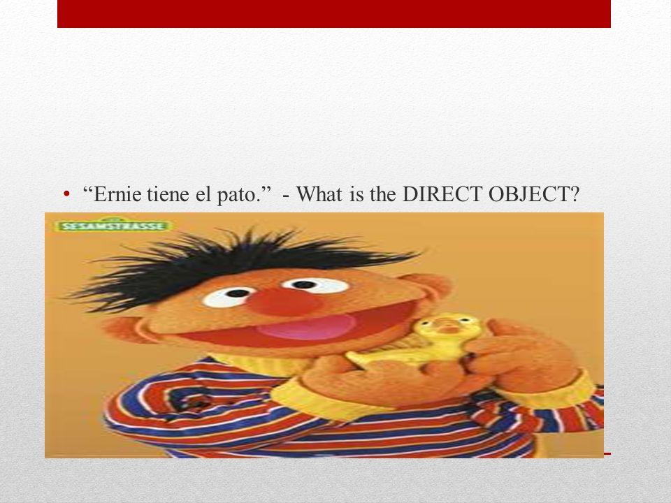 Ernie tiene el pato.