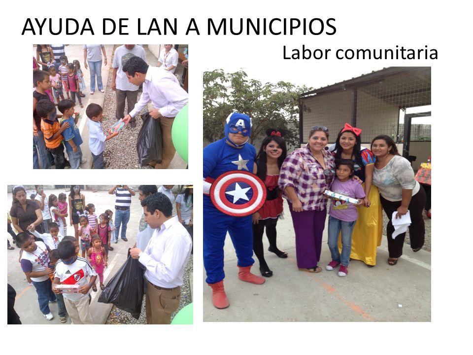 AYUDA DE LAN A MUNICIPIOS Labor comunitaria