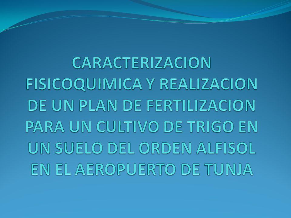Basándonos en los conocimientos adquiridos en el curso de química y fertilidad de suelos y en los resultados arrojados en laboratorio, realizaremos un plan de fertilización para el suelo tipo alfisol de cercanías a la ciudad de Tunja