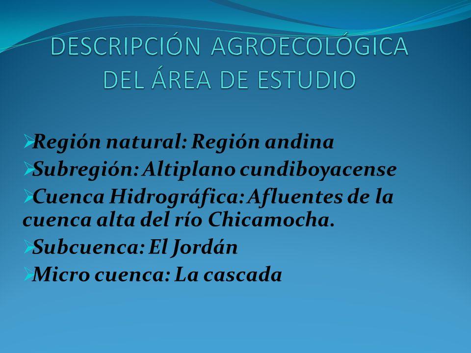 Región natural: Región andina Subregión: Altiplano cundiboyacense Cuenca Hidrográfica: Afluentes de la cuenca alta del río Chicamocha. Subcuenca: El J