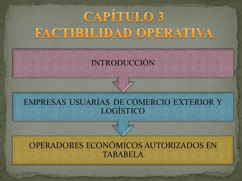 OPERADORES ECONÓMICOS AUTORIZADOS EN TABABELA EMPRESAS USUARIAS DE COMERCIO EXTERIOR Y LOGÍSTICO INTRODUCCIÓN