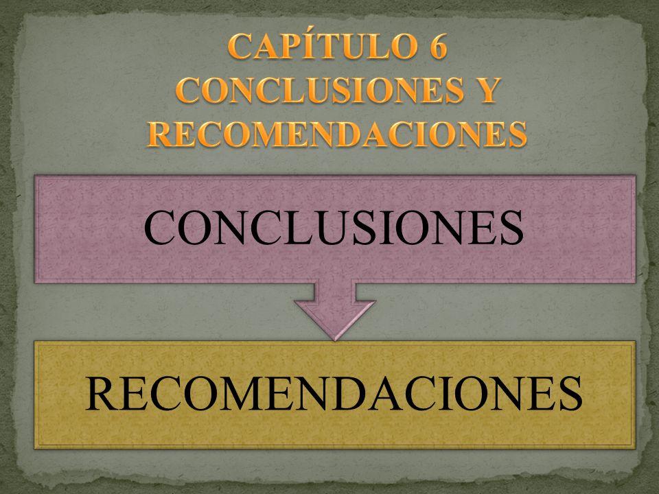 RECOMENDACIONES CONCLUSIONES