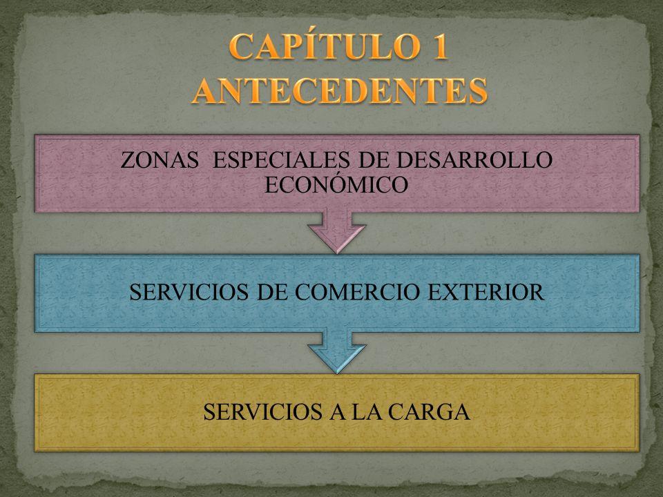 SERVICIOS A LA CARGA SERVICIOS DE COMERCIO EXTERIOR ZONAS ESPECIALES DE DESARROLLO ECONÓMICO