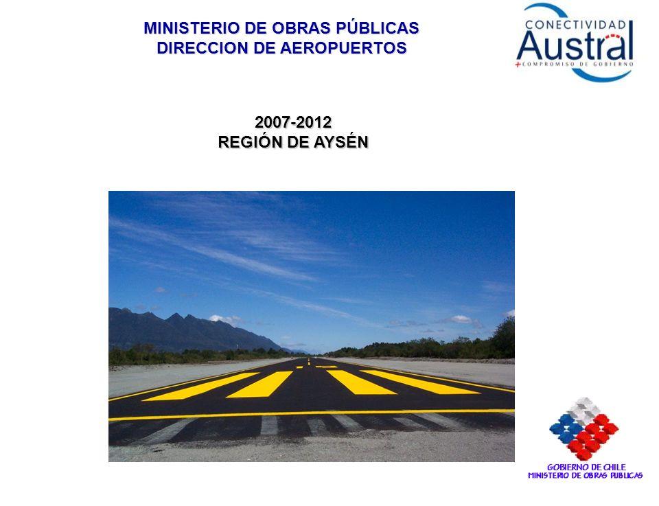 MINISTERIO DE OBRAS PÚBLICAS DIRECCION DE AEROPUERTOS 2007-2012 REGIÓN DE AYSÉN