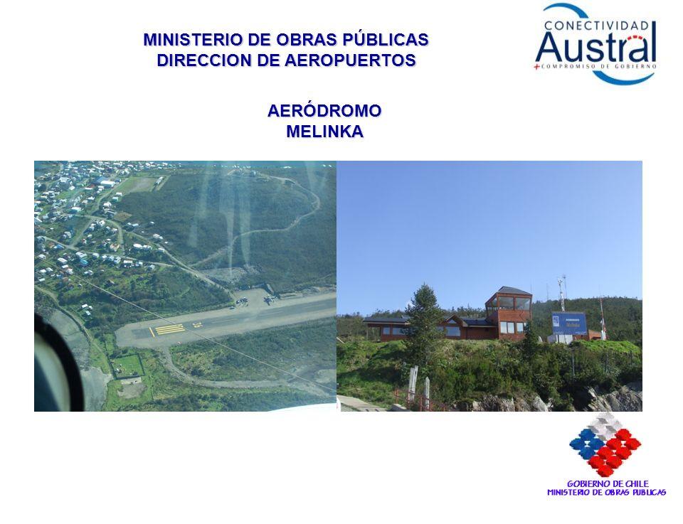 MINISTERIO DE OBRAS PÚBLICAS DIRECCION DE AEROPUERTOS AERÓDROMO MELINKA