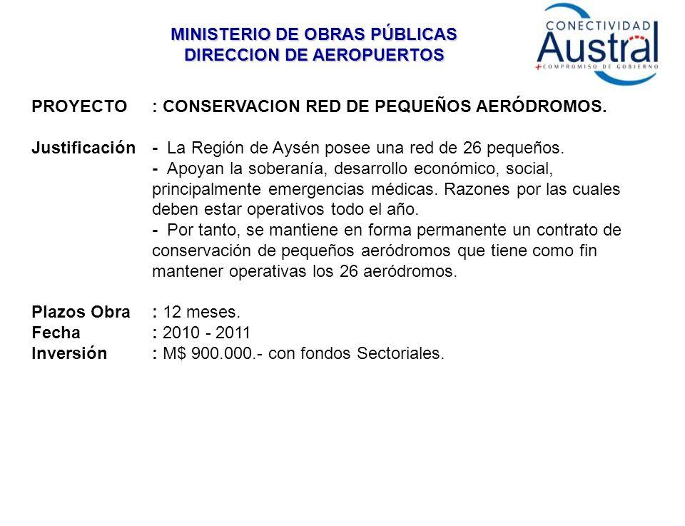 PROYECTO: CONSERVACION RED DE PEQUEÑOS AERÓDROMOS.