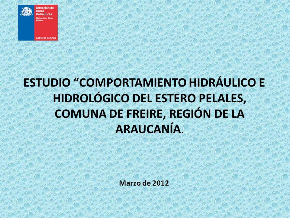 ESTUDIO COMPORTAMIENTO HIDRÁULICO E HIDROLÓGICO DEL ESTERO PELALES, COMUNA DE FREIRE, REGIÓN DE LA ARAUCANÍA. Marzo de 2012