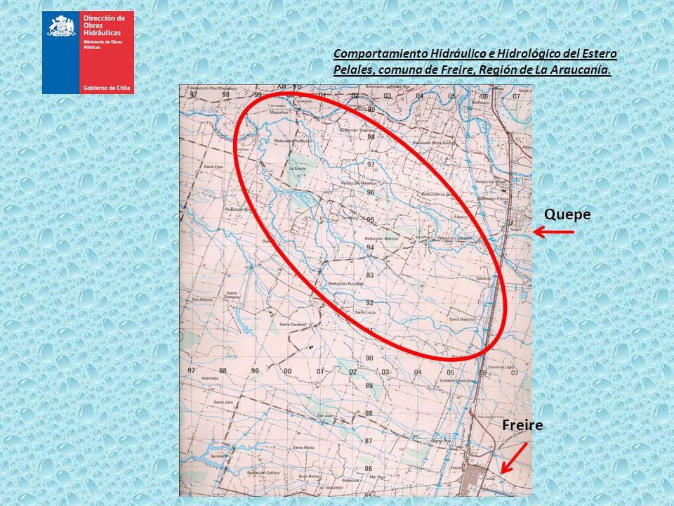 Comportamiento Hidráulico e Hidrológico del Estero Pelales, comuna de Freire, Región de La Araucanía. Quepe Freire