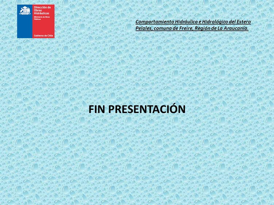 FIN PRESENTACIÓN Comportamiento Hidráulico e Hidrológico del Estero Pelales, comuna de Freire, Región de La Araucanía.