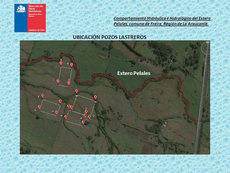 UBICACIÓN POZOS LASTREROS Estero Pelales