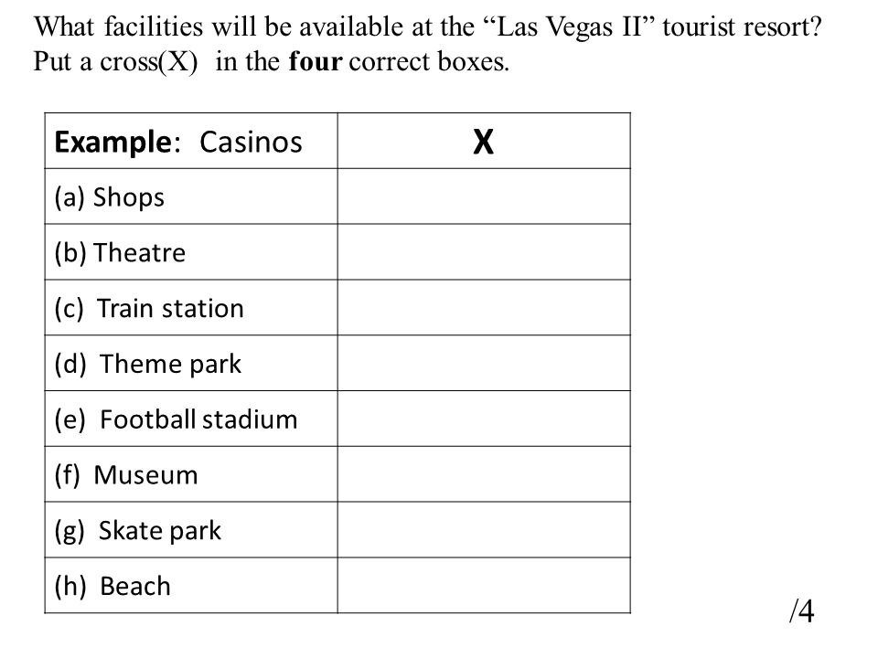What facilities will be available at the Las Vegas II tourist resort.