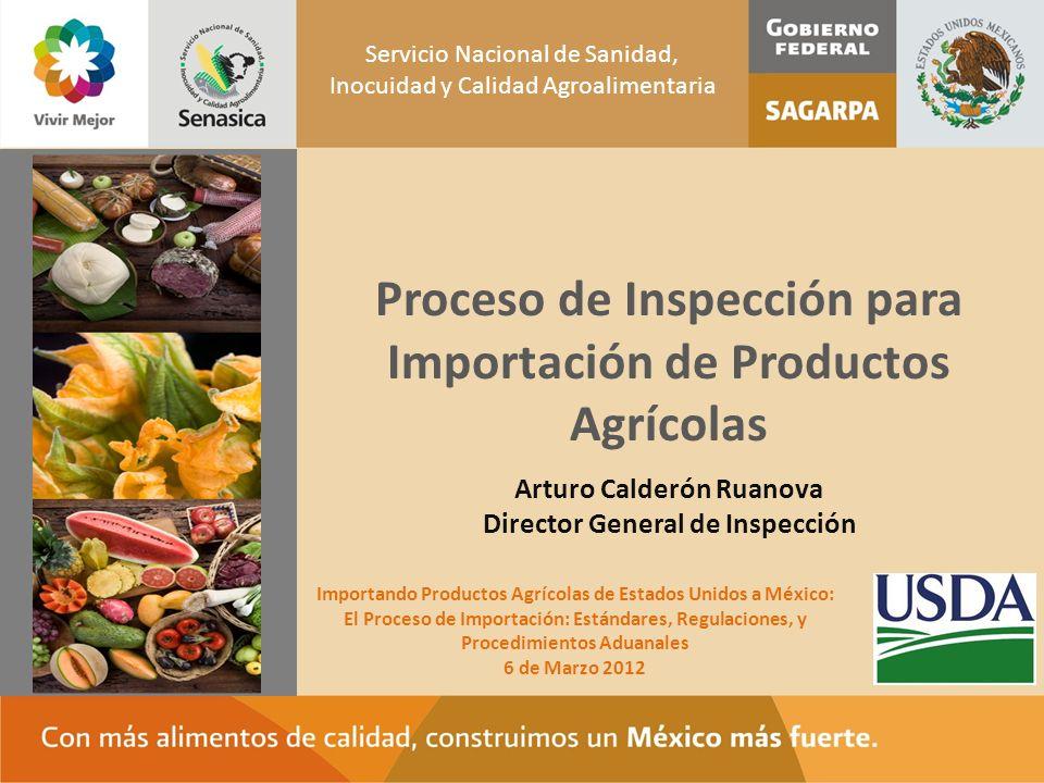 Proceso de Inspección para Importación de Productos Agrícolas Espacio para foto o imagen Servicio Nacional de Sanidad, Inocuidad y Calidad Agroaliment