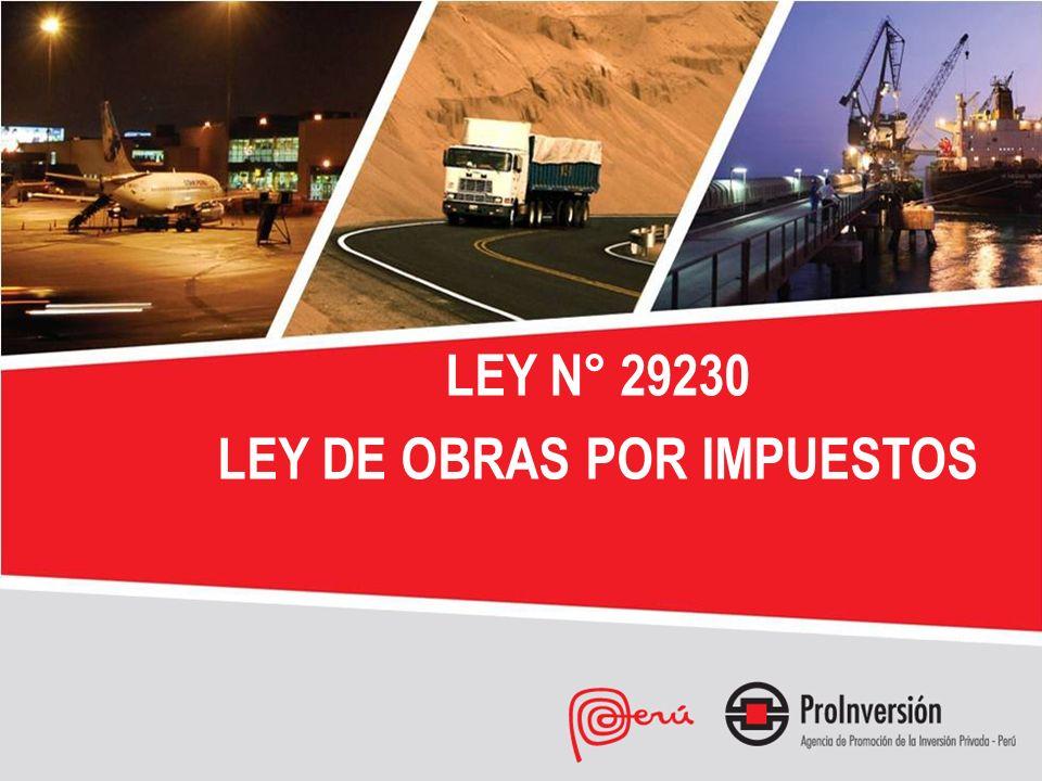 LEY N° 29230 LEY DE OBRAS POR IMPUESTOS