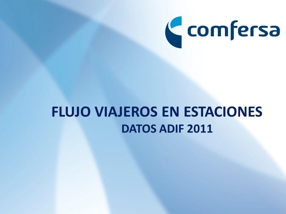 FLUJO VIAJEROS EN ESTACIONES DATOS ADIF 2011