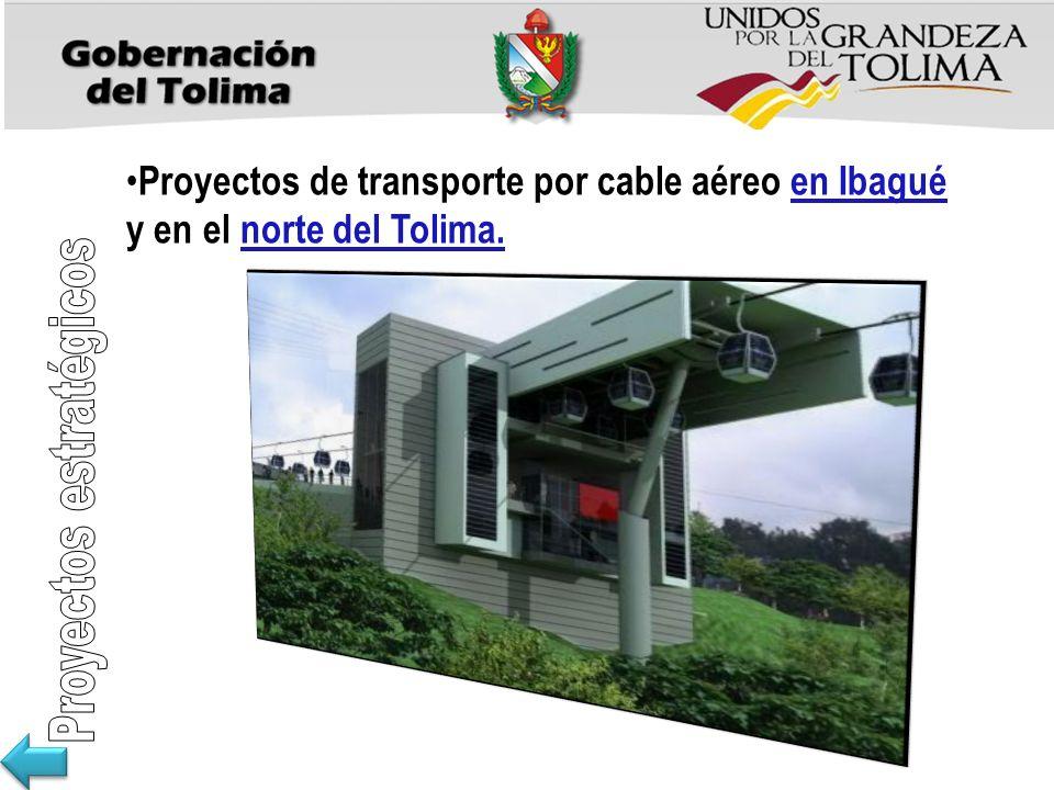 Proyectos de transporte por cable aéreo en Ibagué y en el norte del Tolima.