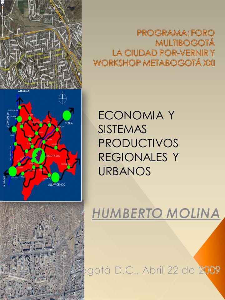 ECONOMIA Y SISTEMAS PRODUCTIVOS REGIONALES Y URBANOS
