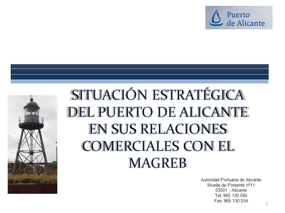 Autoridad Portuaria de Alicante Muelle de Poniente nº11 03001 - Alicante Tel: 965 130 095 Fax: 965 130 034 1