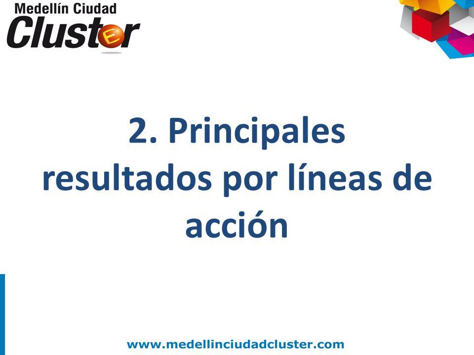 2. Principales resultados por líneas de acción