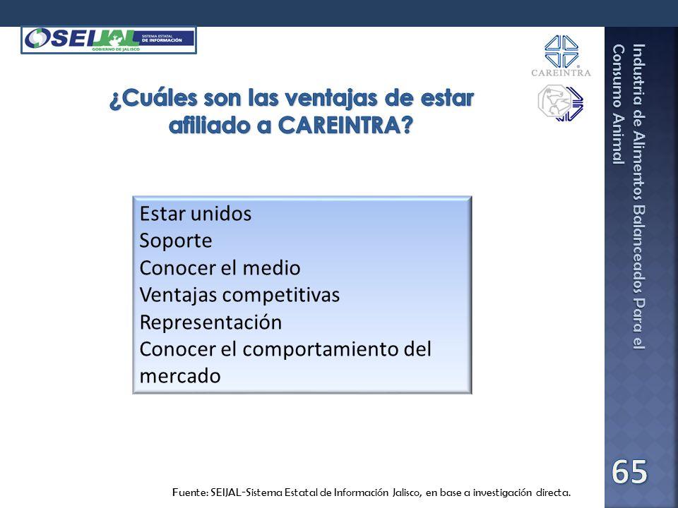 Industria de Alimentos Balanceados Para el Consumo Animal Fuente: SEIJAL-Sistema Estatal de Información Jalisco, en base a investigación directa. Esta