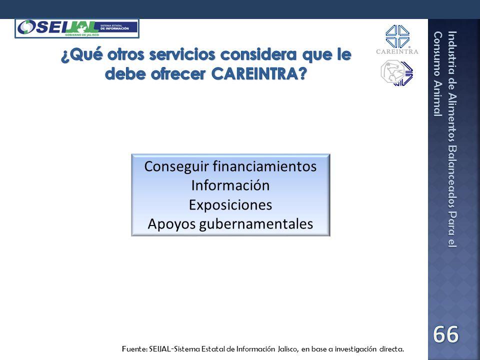 Industria de Alimentos Balanceados Para el Consumo Animal Fuente: SEIJAL-Sistema Estatal de Información Jalisco, en base a investigación directa. Cons