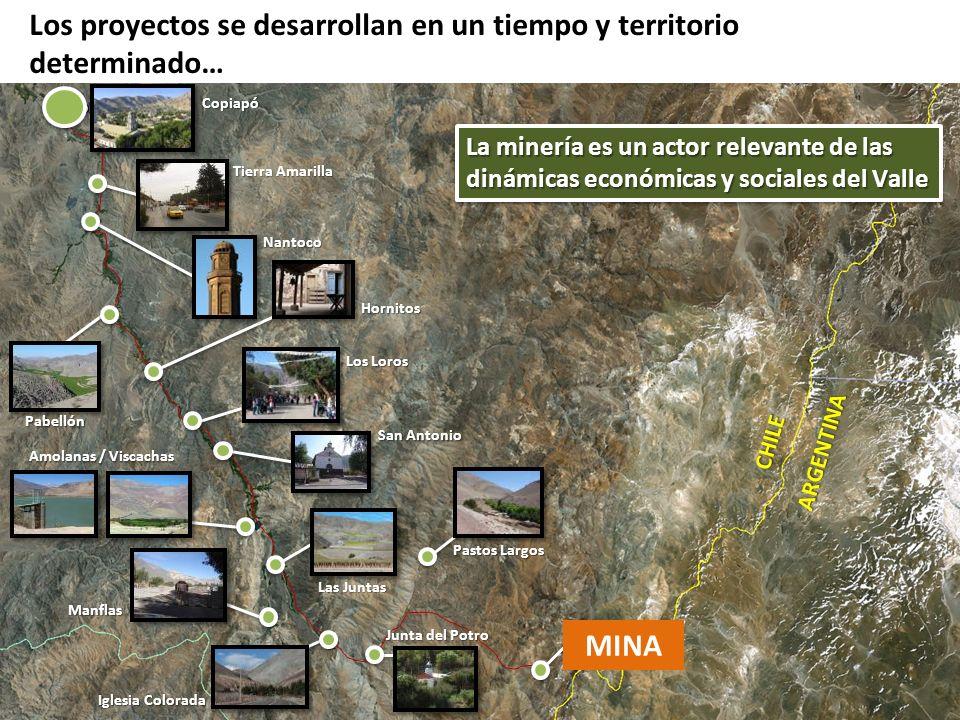 Los proyectos se desarrollan en un tiempo y territorio determinado… La minería es un actor relevante de las dinámicas económicas y sociales del Valle