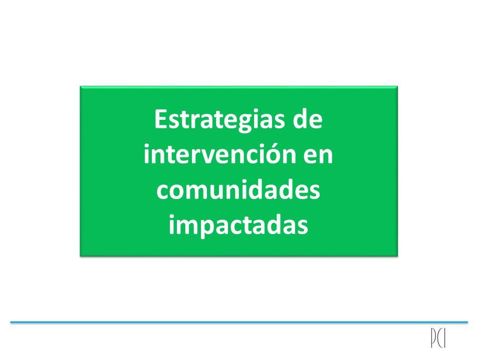 Estrategias de intervención en comunidades impactadas