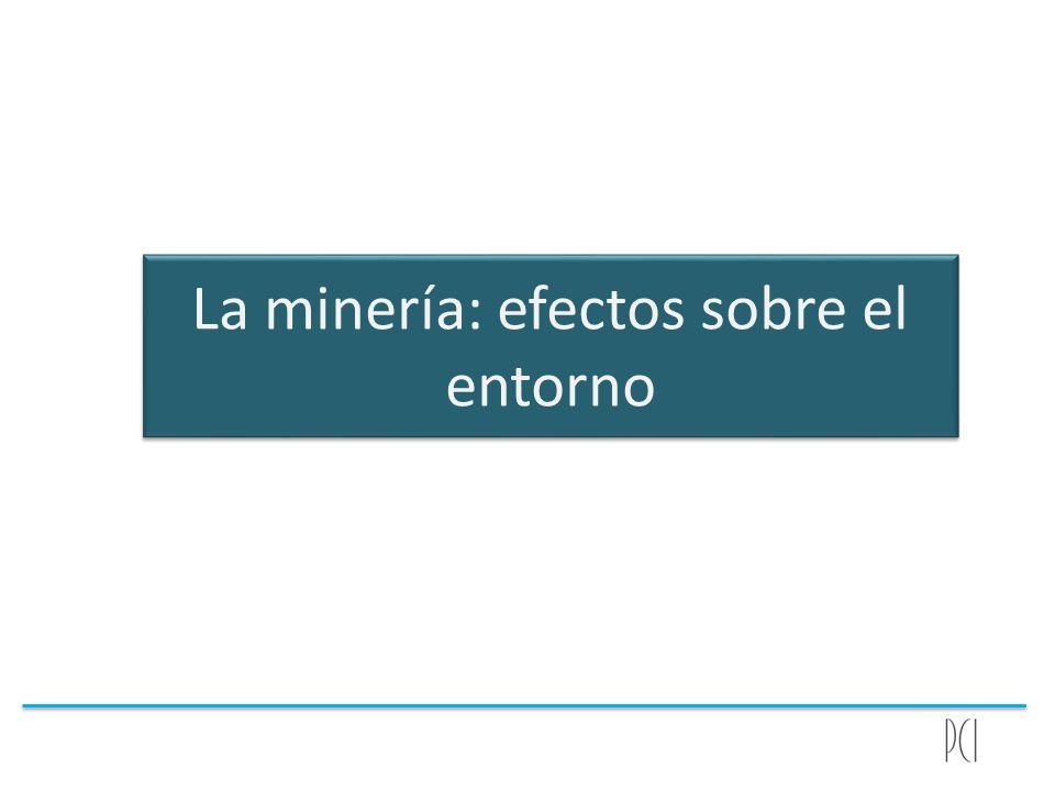 La minería: efectos sobre el entorno