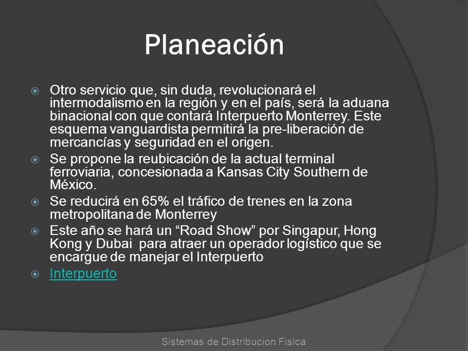 Planeación Otro servicio que, sin duda, revolucionará el intermodalismo en la región y en el país, será la aduana binacional con que contará Interpuer