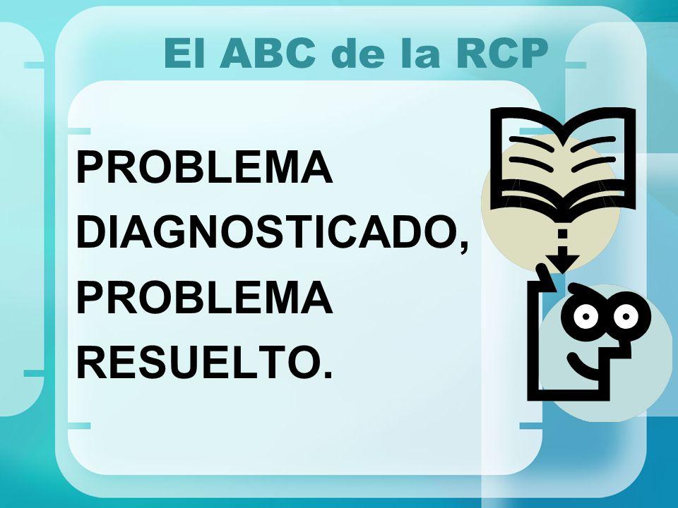 El ABC de la RCP PROBLEMA DIAGNOSTICADO, PROBLEMA RESUELTO.