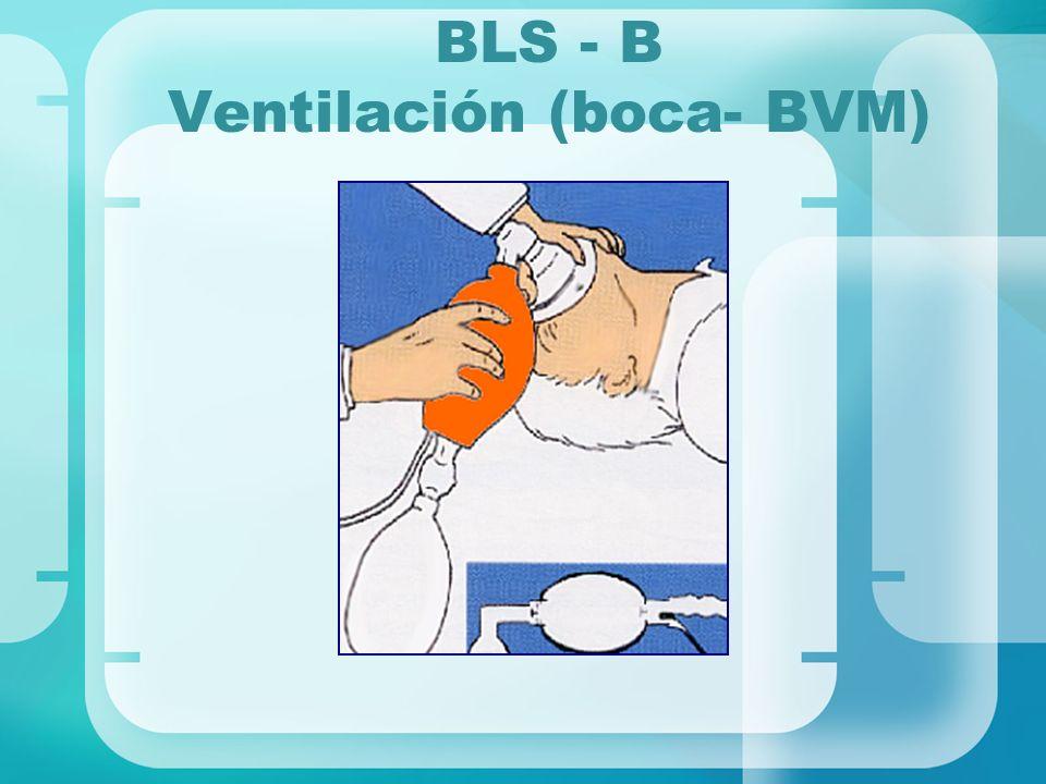 BLS - B Ventilación (boca- BVM)