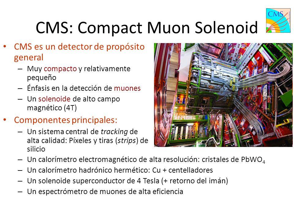 5 Cámaras de muones (Endcap) Detector de trazas de silicio (Silicon Tracker) Coil + inner vacuum tank Cristales del calorímetro Electromagnético (ECAL) Cámaras de muones (Barrel) Calorímetro Hadrónico (Barrel HCAL)