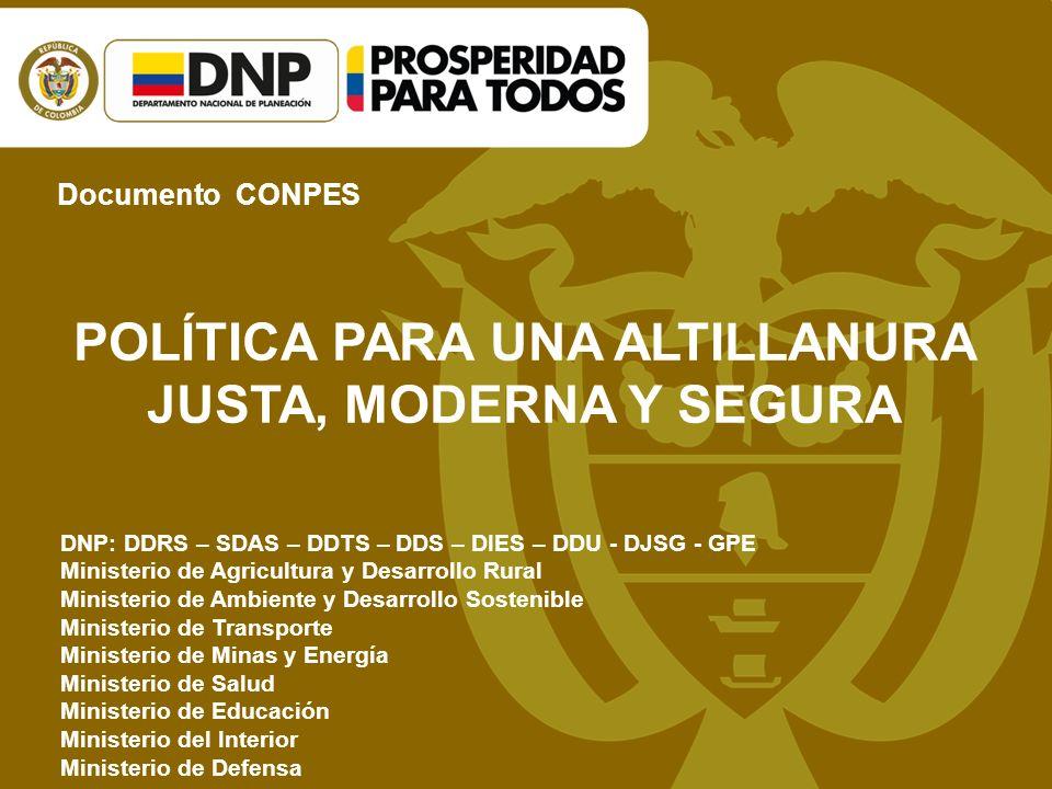 - Octubre 10 de 2011, Villavicencio, Meta: Taller de construcción del documento Conpes sobre Desarrollo Integral de la Altillanura, la metodología y orientación temática fue en torno al tema de la competitividad de la agroindustria.