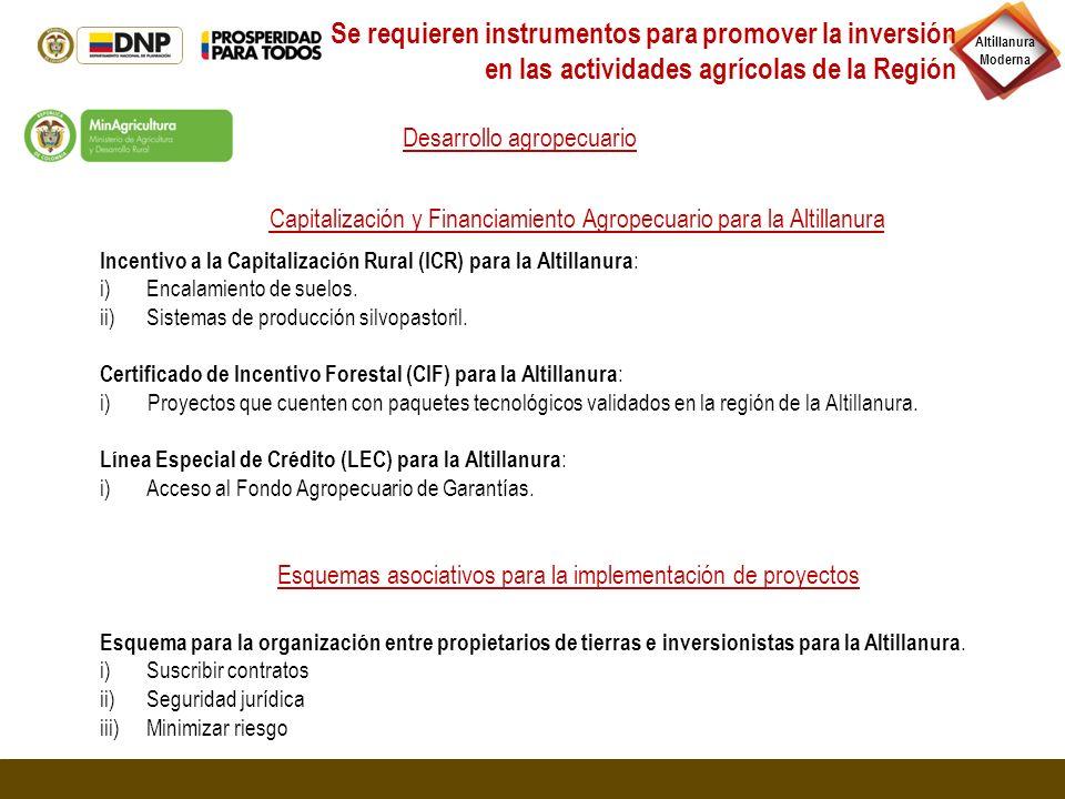 Incentivo a la Capitalización Rural (ICR) para la Altillanura : i)Encalamiento de suelos. ii)Sistemas de producción silvopastoril. Certificado de Ince