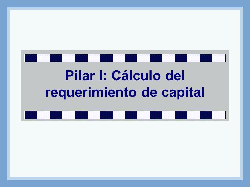 Pilar I: Cálculo del requerimiento de capital